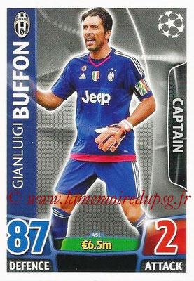 2015-16 - Topps UEFA Champions League Match Attax - N° 451 - Gianluigi BUFFON (Juventus FC) (Captain)