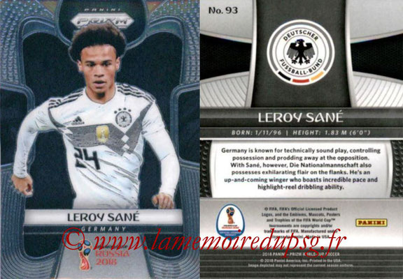 2018 - Panini Prizm FIFA World Cup Russia - N° 093 - Leroy SANE (Allemagne)