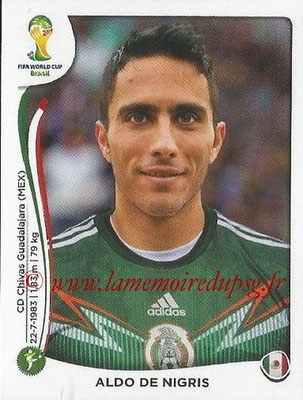 2014 - Panini FIFA World Cup Brazil Stickers - N° 084 - Aldo DE NIGRIS (Mexique)