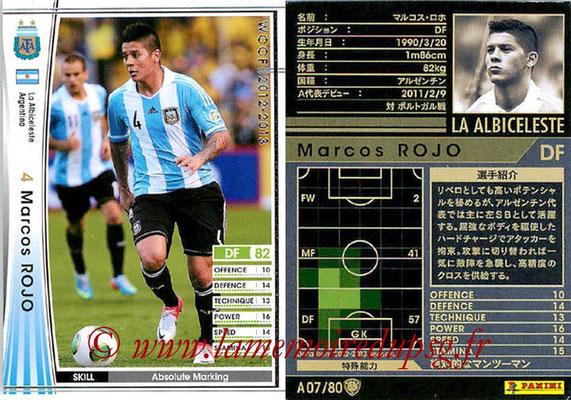 2012-13 - WCCF - N° A07 - Marcos ROJO (Argentine)