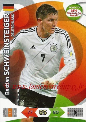 2014 - Panini Road to FIFA World Cup Brazil Adrenalyn XL - N° 055 - Bastian SCHWEINSTEIGER (Allemagne)
