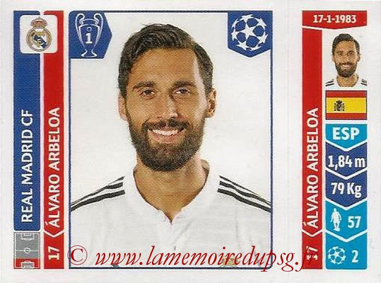 2014-15 - Panini Champions League N° 122 - Alvaro ARBEOLA (Real Madrid FC)
