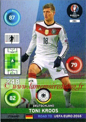 Panini Road to Euro 2016 Cards - N° 281 - Toni KROOS (Allemagne) (Dynamo)