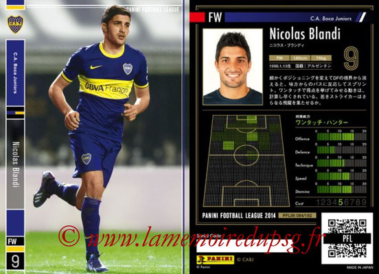Panini Football League 2014 - PFL06 - N° 084 - Nicolas BLANDI (CA Boca Juniors)
