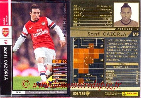 2013-14 - WCCF - N° 008 - Santi CAZORLA (Arsenal FC)
