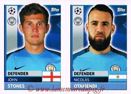 2016-17 - Topps UEFA Champions League Stickers - N° QFG 7-8 - Nicolas OTAMENDI + John STONES (Manchester City FC)