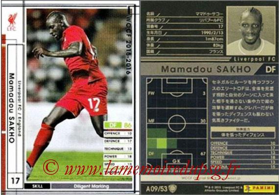 N° A09 - Mamadou SAKHO (2006-Sep 2013, PSG > 2015-16, Liverpool FC, ANG)