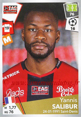2017-18 - Panini Ligue 1 Stickers - N° 146 - Yannis SALIBUR (Guingamp)