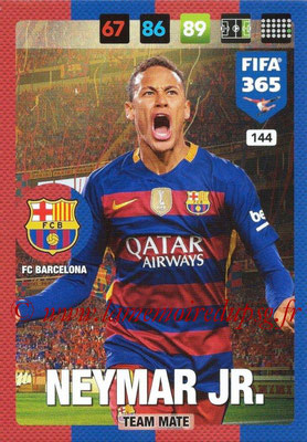 2016-17 - Panini Adrenalyn XL FIFA 365 - N° 144 - NEYMAR JR. (FC Barcelone)