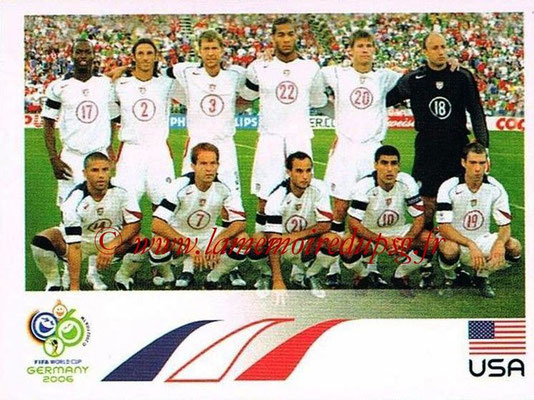 2006 - Panini FIFA World Cup Germany Stickers - N° 340 - Équipe États Unis