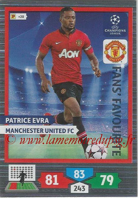 2013-14 - Adrenalyn XL champions League N° 306 - Patrice EVRA (Manchester United FC) (Fans' Favourite)