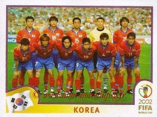 2002 - Panini FIFA World Cup Stickers - N° 241 - Equipe Corée