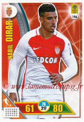 2017-18 - Panini Adrenalyn XL Ligue 1 - N° 196 - Nabil DIRAR (Monaco)