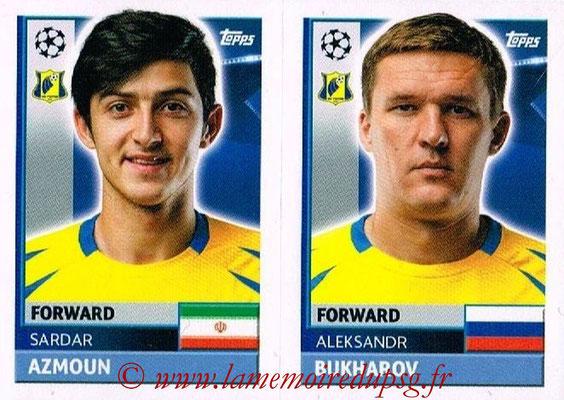 2016-17 - Topps UEFA Champions League Stickers - N° QFK 15-16 - Aleksandr BUKHAROV + Sardar AZMOUN (FC Rostov)