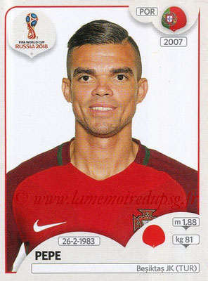 2018 - Panini FIFA World Cup Russia Stickers - N° 116 - PEPE (Portugal)