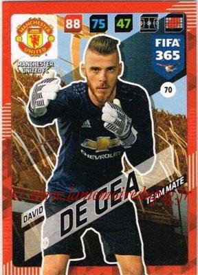 2017-18 - Panini FIFA 365 Cards - N° 070 - David DE GEA (Manchester United)