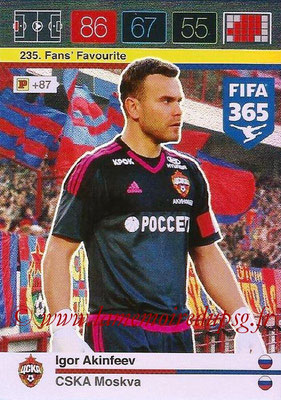 2015-16 - Panini Adrenalyn XL FIFA 365 - N° 235 - Igor AKINFEEV (CSKA Moscou) (Fans' Favourite)