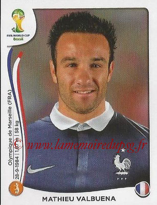 2014 - Panini FIFA World Cup Brazil Stickers - N° 387 - Mathieu VALBUENA (France)