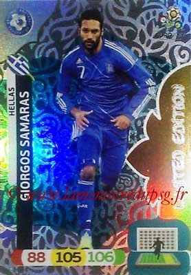 Panini Euro 2012 Cards Adrenalyn XL - N° LE27 - Giorgos SAMARAS (Grèce) (Limited Edition)