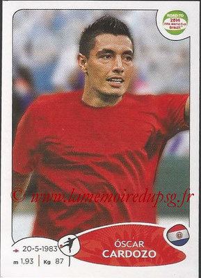 2014 - Panini Road to FIFA World Cup Brazil Stickers - N° 214 - Oscar CARDOZO (Paraguay)