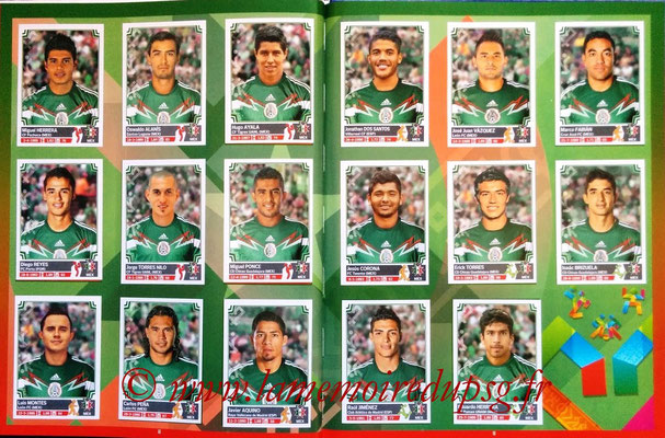 Panini Copa America Chile 2015 Stickers - Pages 08 et 09 - Mexique