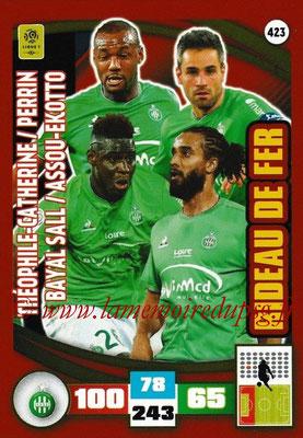 2016-17 - Panini Adrenalyn XL Ligue 1 - N° 423 - Kévin THEOPHILE-CATHERINE + Moustapha BAYAL SALL + Loïc PERRIN + Benoît ASSOU-EKOTTO (Saint-Etienne) (Rideau de Fer)
