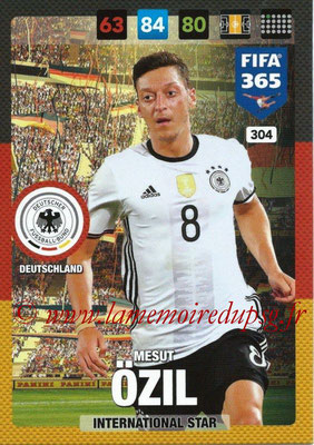 2016-17 - Panini Adrenalyn XL FIFA 365 - N° 304 - Mesut ÖZIL (Allemagne) (International Star)