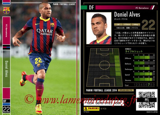 Panini Football League 2014 - PFL08 - N° 035 - Daniel ALVES (FC Barcelone)