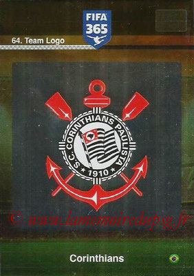 2015-16 - Panini Adrenalyn XL FIFA 365 - N° 064 - Ecusson Corinthians (Team Logo)