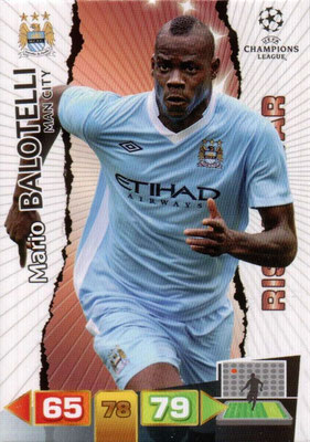 2011-12 - Panini Champions League Cards - N° 142 - Mario BALOTELLI (Manchester City FC) (Rising Star)