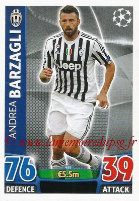 2015-16 - Topps UEFA Champions League Match Attax - N° 456 - Andrea BARZAGLI (Juventus FC)