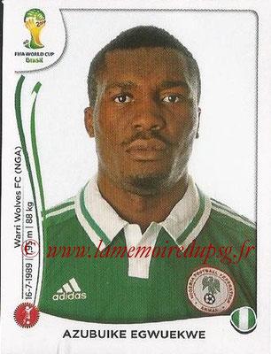 2014 - Panini FIFA World Cup Brazil Stickers - N° 476 - Azubuike EGWUEKWE (Nigéria)