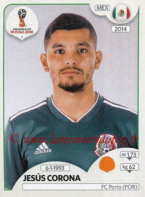 2018 - Panini FIFA World Cup Russia Stickers - N° 466 - Jesus CORONA (Mexique)