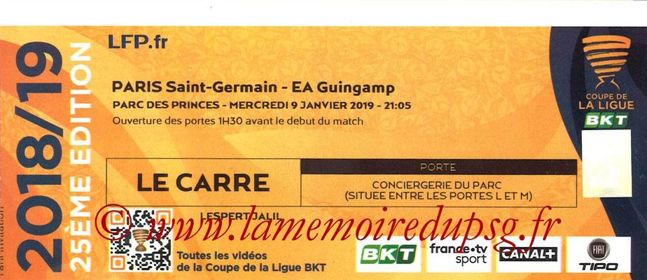Tickets  PSG-Guingamp  2018-19