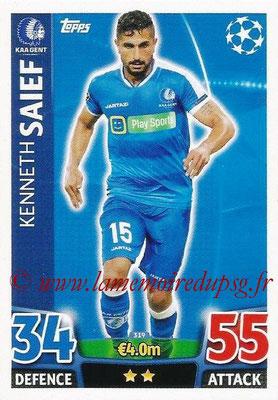 2015-16 - Topps UEFA Champions League Match Attax - N° 319 - Kenneth SAIEF (KAA Gent)