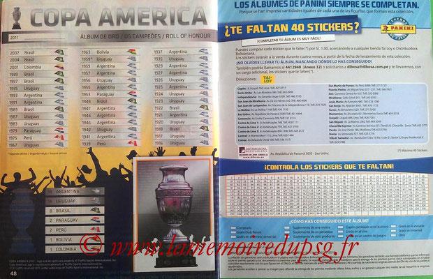Panini Copa América Argentina 2011 - Pages 48 et 49 - Palmarès
