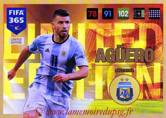 2016-17 - Panini Adrenalyn XL FIFA 365 - N° LE58 - Sergio AGUERO (Argentine) (Limited Edition)