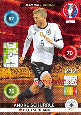 Panini Euro 2016 Cards - N° 071 - André SCHURRLE (Allemagne) (Dynamo)