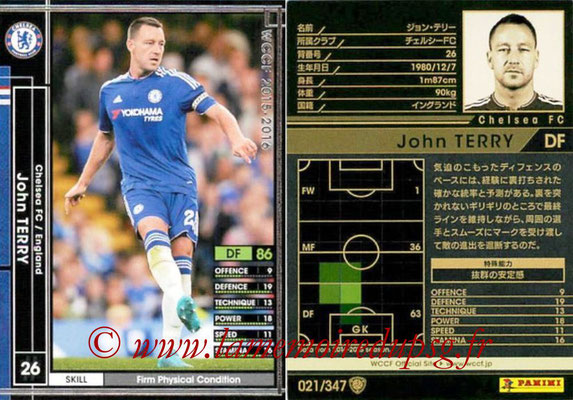 2015-16 - Panini WCCF - N° 021 - John TERRY (Chelsea FC)