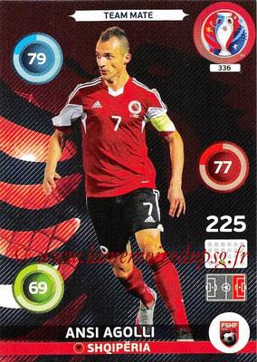 Panini Euro 2016 Cards - N° 336 - Ansi AGOLLI (Albanie)
