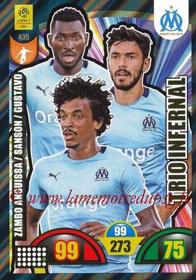 2018-19 - Panini Adrenalyn XL Ligue 1 - N° 435 - André-Frank ZAMBO ANGUISSA + Morgan SANSON + Luiz GUSTAVO (Marseille) (Trio Infernal)