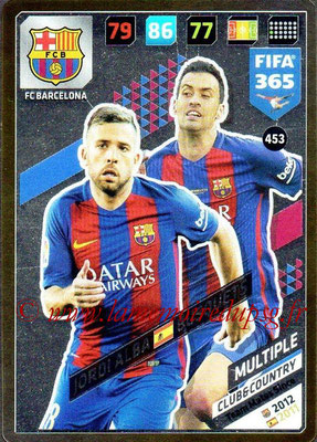 2017-18 - Panini FIFA 365 Cards - N° 453 - Jordi ALBA + Sergio BUSQUETS (FC Barcelone) (Club & Country)