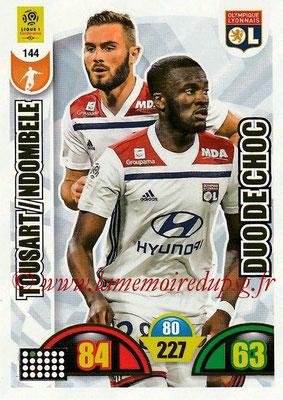 2018-19 - Panini Adrenalyn XL Ligue 1 - N° 144 - Tanguy NDOMBELE + Lucas TOUSART (Lyon) (Duo de Choc)