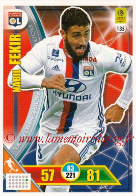 2017-18 - Panini Adrenalyn XL Ligue 1 - N° 135 - Nabil FEKIR (Lyon)