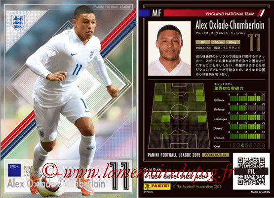 Panini Football League 2015 - PFL12 - N° 087 - Alex OXLADE-CHAMBERLAIN (Angleterre) (Star +)