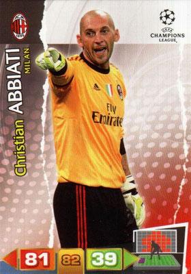 2011-12 - Panini Champions League Cards - N° 158 - Christian ABBIATI (Milan AC)