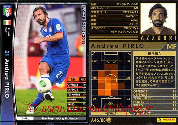 2012-13 - WCCF - N° A46 - Andrea PIRLO (Italie)