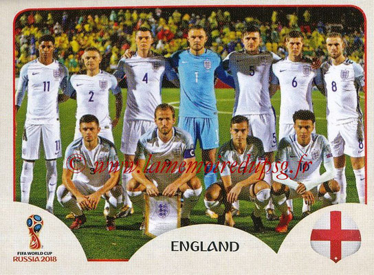 2018 - Panini FIFA World Cup Russia Stickers - N° 573 - Equipe Angleterre
