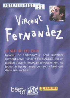 N° 052 - Vincent FERNANDEZ (Verso)