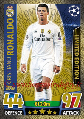 2015-16 - Topps UEFA Champions League Match Attax - N° LE1 - Cristiano RONALDO (Real Madrid CF) (Limited Edition Gold)